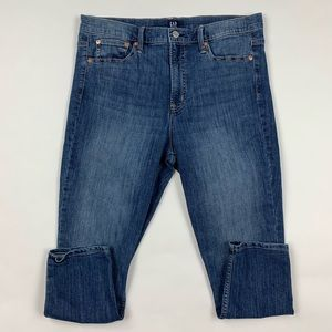 GAP Regular True Skinny Crop Jeans Sz 32